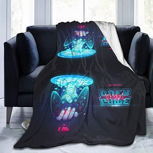 Pop-Videospiel-Comics lustig Modern Geometric Schlafzimmer Computerspiel Gamer Game Controller Throws Fleece Throw Decken Ultra Soft und Fluffy Sofa Handtuch Baumwolle Warm Slipcover 50 'x 40'