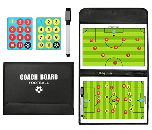 PhantomSky Portable Professional Soccer/Football Magnetic Tactics Board Coaching Board with Marker Pieces,Pen and Eraser (Size: 53cm x 31cm)