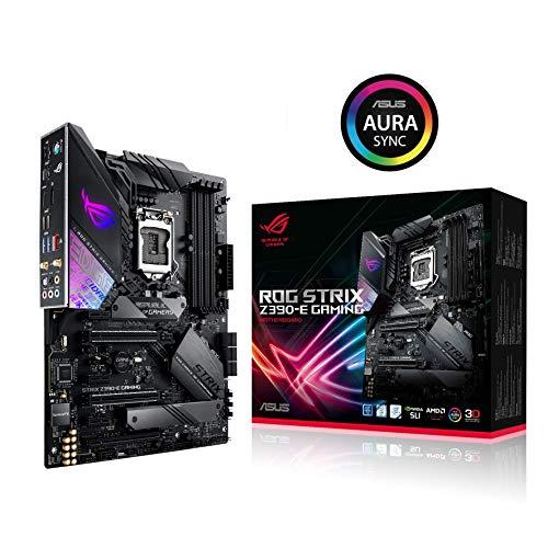 ASUS ROG Strix Z390-E Gaming LGA1151 (Intel 8. und 9. Generation) ATX DDR4 DP HDMI M.2 USB 3.1 Gen2 802.11 AC Wi-Fi-Motherboard, Schwarz