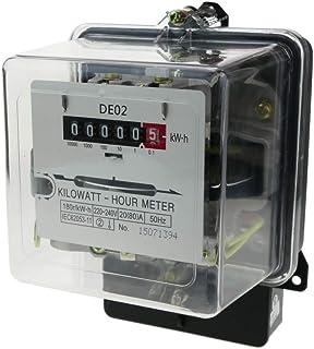 comprar comparacion BeMatik - Contador medidor de Electricidad monofásico 20A 230V 50Hz de plástico Transparente 80A máx.