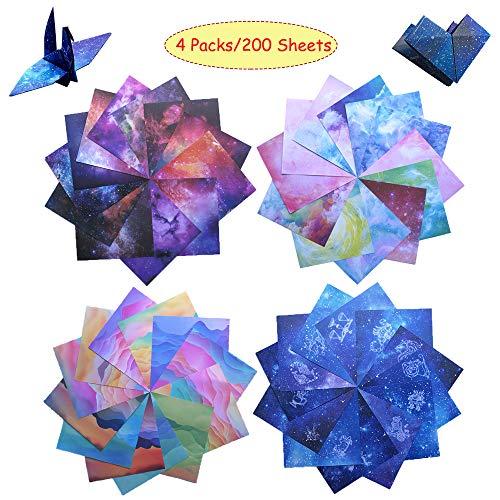 Origami Cuadrado Colorido Origami Papel Plegable Colores Origami De Doble Cara Origami De Diferentes Patrones Papel De Origami Diy Origami Del Cielo Para Proyectos Manualidades 15x15cm 200 Hojas 4PCS