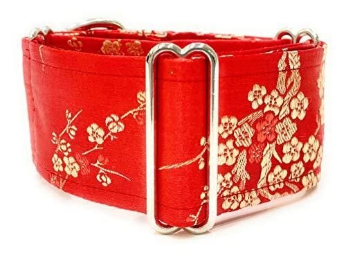 Collar de perro de martingala extra suave para galgos saluki Whippet y otras razas con cuello similar 5 cm de ancho (L 35 cm-45 cm)
