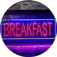 All Day Breakfast Café Dual Color LED看板 ネオンプレート サイン 標識 青色 + 赤色 600 x 400mm st6s64-i2862-br