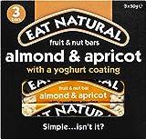 Barritas De Almendras Y Albaricoques | Eat Natural | Barras de fruta y nueces, almendra y albaricoque con una capa de yogur 3 x 50 g | Peso total 150 gramos