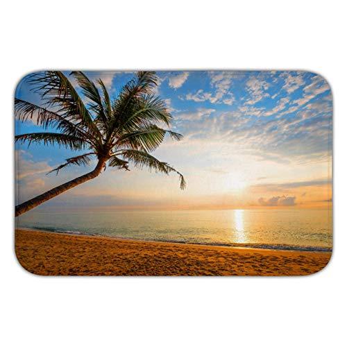 Fußmatte mit Meereslandschaft, Horizont, Natur-Flanell-Fußmatte, rutschfeste Bodenmatte, für draußen, drinnen, Schlafzimmer und Badezimmer, 40 x 60 cm