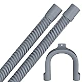 Drain hose 4,0 meters for washing machine/dishwasher with 19 / 22mm connection in premium quality