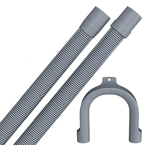 3m Ablaufschlauch für Waschmaschine Geschirrspüler Flexibler Abwasserschlauch für Waschmaschine 3 m 19mm / 22mm Gerade/Gerade mit Bügel