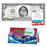 Official Santa Claus $2 Dollar Bill. Removable Santa Seal on Real USD . Perfect Stocking Stuffer