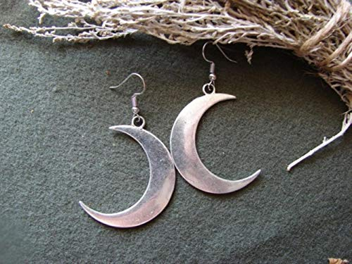 YDY Pendientes de Luna Creciente Joyas góticas místicas Bruja Lunar Celta Pagano Wiccan Luna Fase de Luna Witchy Diosa Moda Mujer Regalo, Pendientes