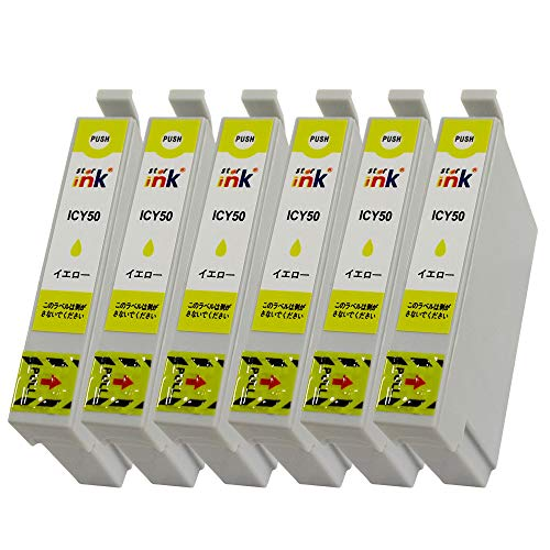 mita 互換インク イエロー 6個パック EP-301 / EP-302 / EP-702A / EP-703A / EP-801A / EP-802A / EP-803A / EP-803AW / EP-901A / EP-901F / EP-902A / EP-903A / EP-903F / PM-A820 / PM-A840 / PM-A840S / PM-A920 / PM-A940 / PM-D870 / PM-G4500 / PM-G850 / PM-G860 / PM-T960 / EP-704A / EP-774A / EP-804A / EP-804AW / EP-904A / EP-904F / EP-705A / EP-4004 / EP-804AR 対応 エプソン 用