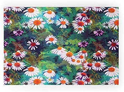 "Society6 73313-wcmatl Sewzinski Coneflowers Welcome Mat, 36"" x 24"", Multi"
