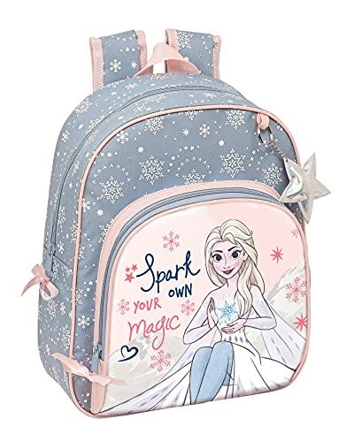 Safta Mochila Infantil de Frozen II Magical Seasons, 280x100x340 mm, Gris Azulado/Rosa Claro (M609)