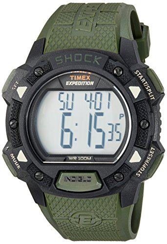 Timex Men's TW4B09300 Expedition Base Shock Green/Black Resin Strap Watch