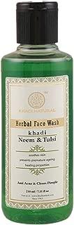 Khadi Natural Ayurvedic Neem & Tulsi Face Wash-210ml, For Acne, Pimple, Dark Spots, Blemishes, Anti-Ageing, Moisturizes, Tightens Skin, For normal skin, dry skin, oily skin, for women & men
