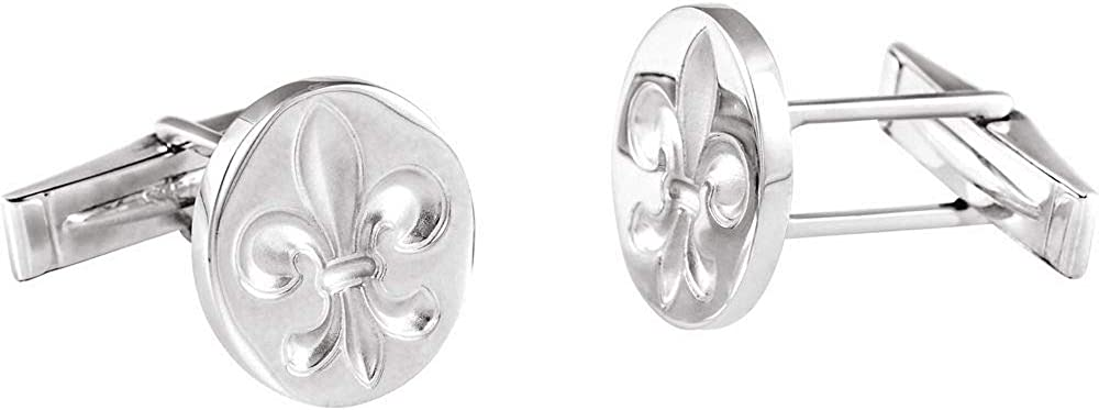 Sterling Silver Financial sales sale Fleur De Lis Links Cuff Special price Men's
