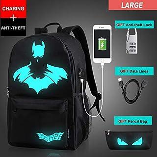 2018 School Bags Anti-Theft USB Charging Men Luminous Backpacks Mochila Fashion Anime Cartoon Student