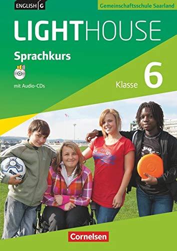 English G LIGHTHOUSE - Sprachkurs Saarland / Band 2: Klasse 6 - Arbeitsheft mit Audio-Materialien: Arbeitsheft mit Audio-CDs