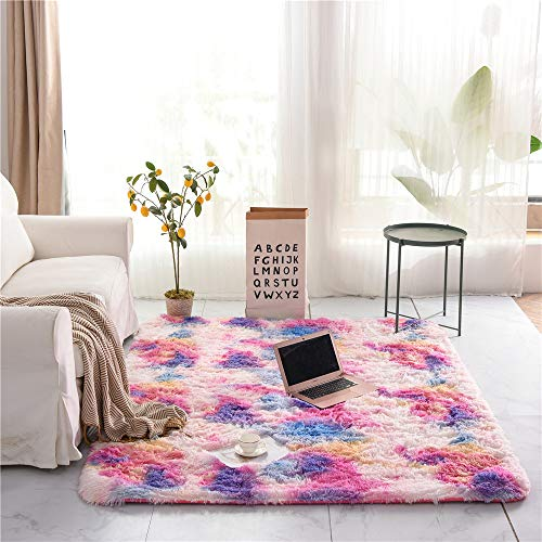 Faux Fur Rug Fluffy Carpet Sheepskin Rugs for Bedrooms living roomHome Mat...