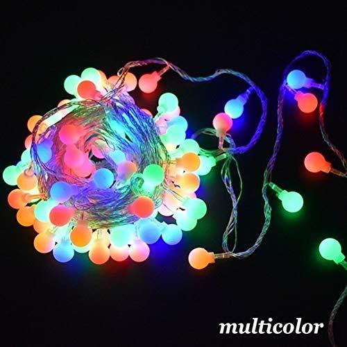 Romantisch Luz de Navidad, 6m 10m 20m 30m 50m mate cadena de luz LED Ball Navidad de la guirnalda de la boda de la decoración del hogar al aire libre la celebración de días Weihnachtsdekoration