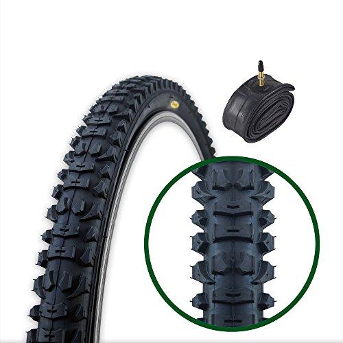 Fincci MTB Mountain Hybrid Bike Bicycle Foldable Tyre 26 x 1.95 and Presta Inner Tube