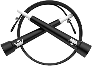 Jump Rope for Cross Fit :: Skipping Rope for WOD :: Speed Skip Rope Training :: Adjustable Jumping Rope for Cardio Fitness & Exercise :: Includes 2 Instructional eBooks and Workout Video