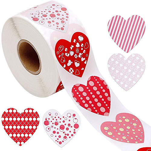 50-500pcs heart shape Valentine's Day stickers Birthday Party Seal Labels good cute stickers Box Tag FAVORS labels