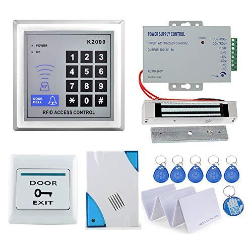OBO HANDS Full RFID Door Lock Control de Acceso Teclado Kit +180KG Cer