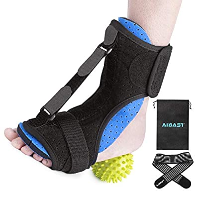 AiBast Plantar Fasciitis Night Splint, 2020 New Upgraded Blue Multi Adjustable Ankle Brace Foot Drop Orthotic Brace for Plantar Fasciitis, Arch Foot Pain, Achilles Tendonitis Support for Women, Men