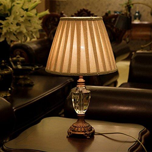 L-R-H Europea - Estilo de Cristal de la lámpara, lámpara de Escritorio de los niños, Dormitorio cálido lámpara de cabecera, Modern American Living Room decoración de la Boda de la lámpara