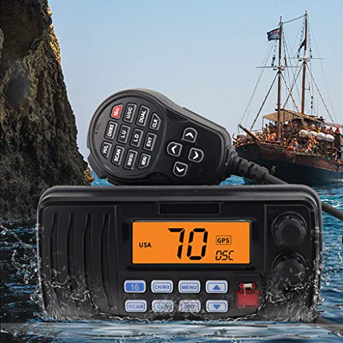Best Buy! LLP LM IPX7 Waterproof Marine VHF Maritime Walkie Talkie VHF Frequency for Terminal Schedu...