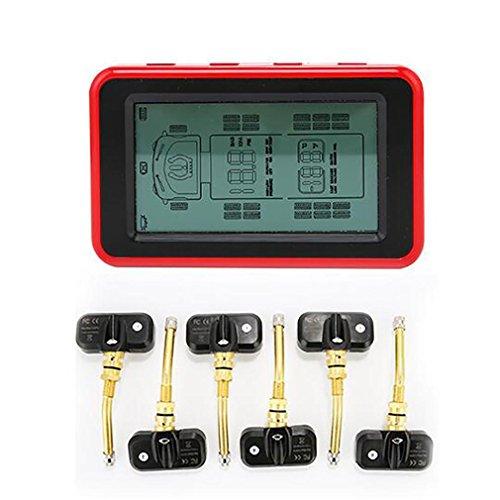 LPY-Sistema de monitoreo de la presión de los neumáticos de la exhibición del LCD del LCD, sistema con 4 sensores internos para el motor casero