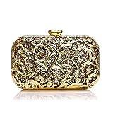 Lxc Abendessen-Bankett Kupplung Umhängetasche Europäischen Und Amerikanischen Metall Abend Handtasche 17CM Tasche Damen * 10CM * 5.5CM edel