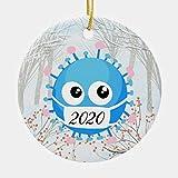 Dos lados impreso Covid19 2020 Virus decoración del árbol de Navidad