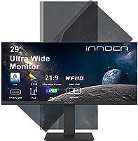 モニター ディスプレイ 26インチ 29インチ ウルトラワイド Innocn 21:9 2560x1080 HDR IPSパネル 広い色域 画面分割 ブルーライト軽減 フリッカセーフ 3辺狭額縁 縦横回転 HDMI×2 Type-C DP...