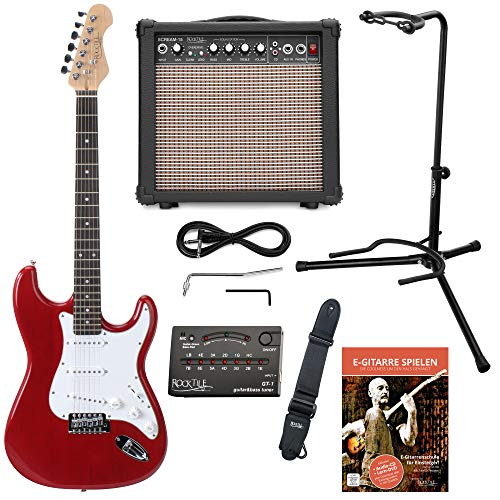 Rocktile Sphere Classic Set de guitarra eléctrica roja