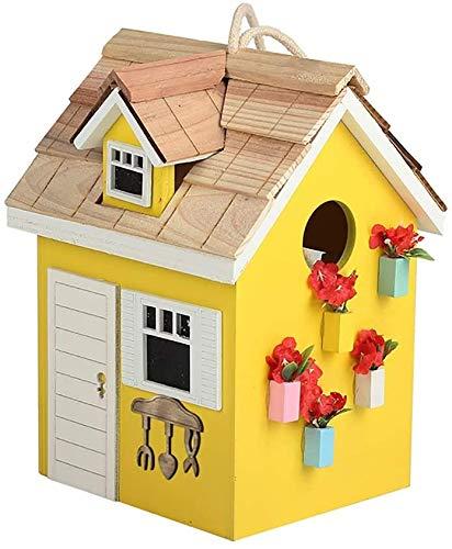 Bird House Bird House ornement de jardin d'extérieur en bois Birdhouse Retro Crafts Outdoor Cottages Bird House for les petites oiseaux Chalet Birdhouse Décoration extérieure Maison oiseaux for les pe