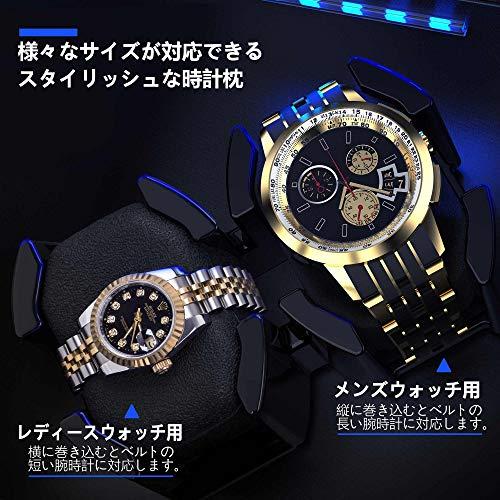 JINS & VICO JINS & VICO ワインディングマシーン腕時計自動巻き器ウォッチワインダー4本巻き上げ, 4本収納, 1年保証マブチモーター使用ワインディングマシン合皮ダークコーヒーの色