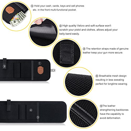 9. Fullmosa Concealed Carry Holster, Mi Belly Band Holster for Handgun