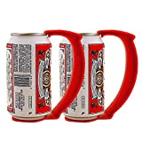 KegWorks Instant Beer Stein Can Grip Handle - Set of 2 for Beer or Soda Pop Cans