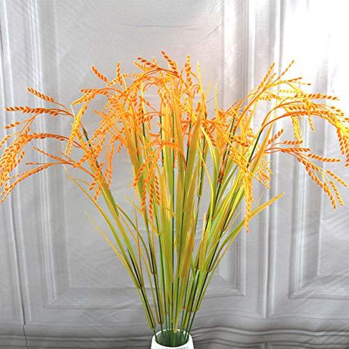 NSJGWSW 70 cm Länge Künstliche Blume Simulation Gelb Paddy Reis Gefälschte Pflanze Hausgarten Decor Hochzeit Tischdekoration