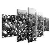 islandburner Tableau Tableaux Vue aérienne en Noir et Blanc de la Ville de New York et de Manhattan Cadre sur Toile Impression Photo Affiches