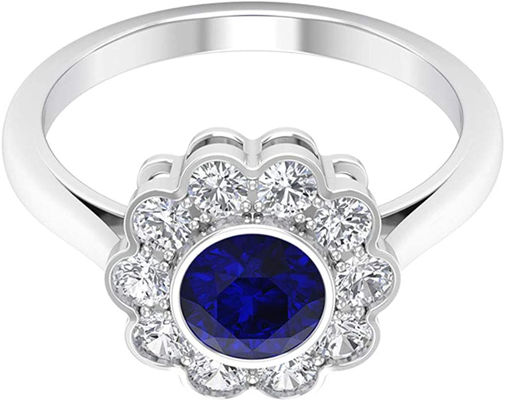 1.05 Ct SGL Direct stock discount Certified Blue Created Sapphire Ring Solitaire Lab 70% OFF Outlet