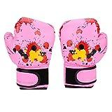 キッズ ボクシング 練習用 パンチングバッグ 子供グローブ 手袋 耐久性 耐摩耗性 通気性 2〜11歳の子供に適用 キック トレーニング 3色(ピンク)