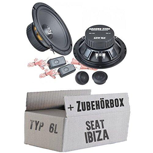 Ground Zero GZIC 16X - 16cm Lautsprecher System - Einbauset für Seat Ibiza 6L Front Heck - JUST SOUND best choice for caraudio