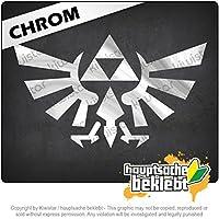Triforce Triforce 18cm x 11cm 15色 - ネオン+クロム! ステッカービニールオートバイ