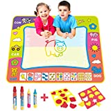 BCMRUN Water Doodle Magic Mats,Painting Doodle Water Mat with 4 Water Drawing Pen for Kids (31.5''*23.6'')