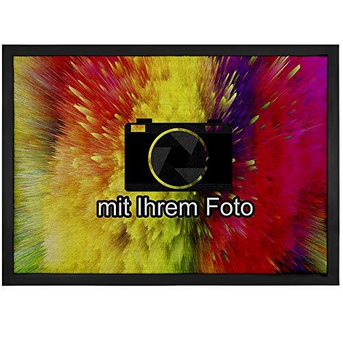 1art1 Personalisierte Fußmatte mit Namen und eigenem Foto | Fussmatte selber gestalten für Innenbereich und Außenbereich | Personalisiertes Geschenk 40 x 60 cm