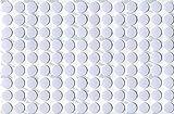 KwikCaps PVC Blanc Alpin Cache-vis adhésifs VBA plus Trous de forage Clous Came [Diamètre 13 mm Feuille simple de 126]