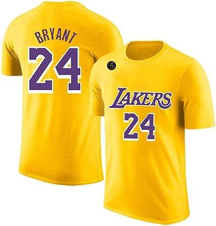 XYHS Camiseta de baloncesto Kobe Bryant #24 Los Angeles ...