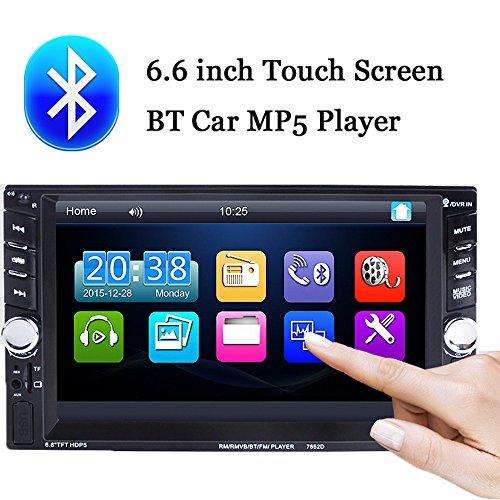 BoomBoost 6.6 '' Touch Bluetooth 2 Autoradio Stéréo Lecteur MP5 stéréo AUX/Remote / USB HeadUnit